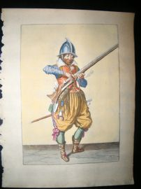Jacob de Gheyn 1608 Fine Hand Coloured Musketeer Print -13